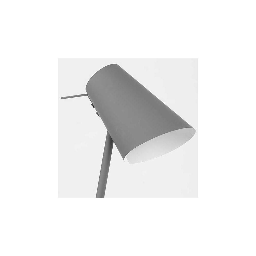 lampe en m tal gris finition gomme. Black Bedroom Furniture Sets. Home Design Ideas
