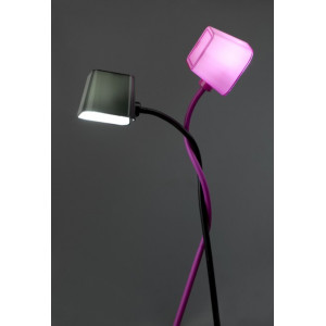 Lampadaire design flexible rose fuchsia