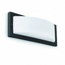 Applique extérieur semi ovale noire et blanche Faro