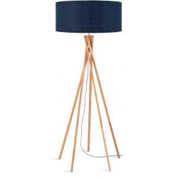 Lampadaire bambou bleu