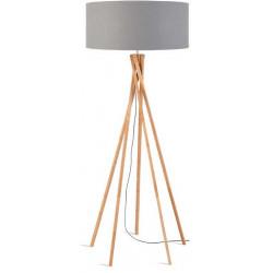 Lampadaire bambou gris clair