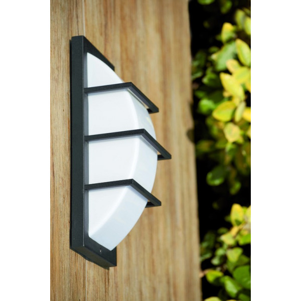 Applique ext rieur grise rectangulaire lampe ext rieur faro for Lampe exterieur facade