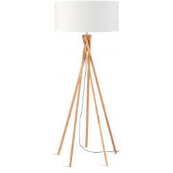 Lampadaire bambou blanc