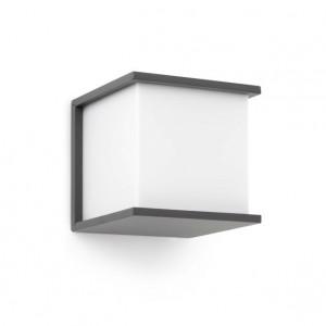 applique ext rieur grise ou grise fonc e cubique luminaire ext rieur faro. Black Bedroom Furniture Sets. Home Design Ideas