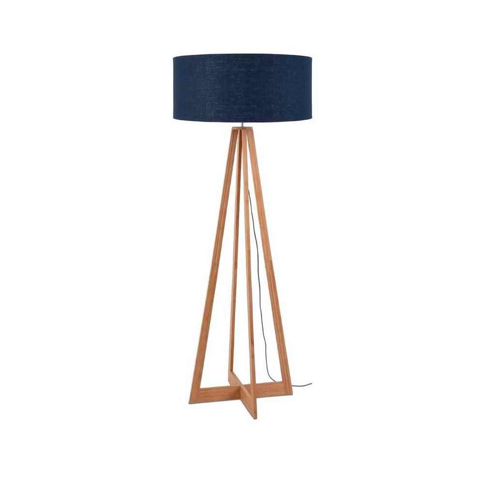 luminaire design de salon abat-jour bleu