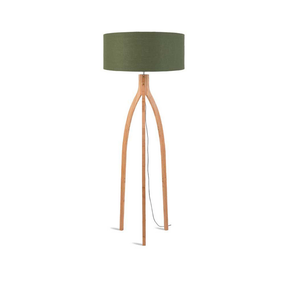 lampadaire salon abat jour lin vert. Black Bedroom Furniture Sets. Home Design Ideas
