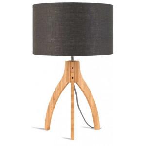 Lampe grise abat-jour