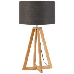 Lampe abat-jour lin gris