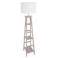Lampadaire bois échelle