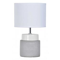 Lampe en béton et céramique blanche
