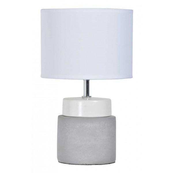 Lampe blanche béton