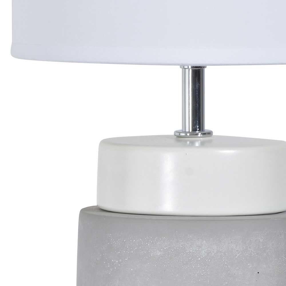 Lampe blanche béton · lampe moderne céramique