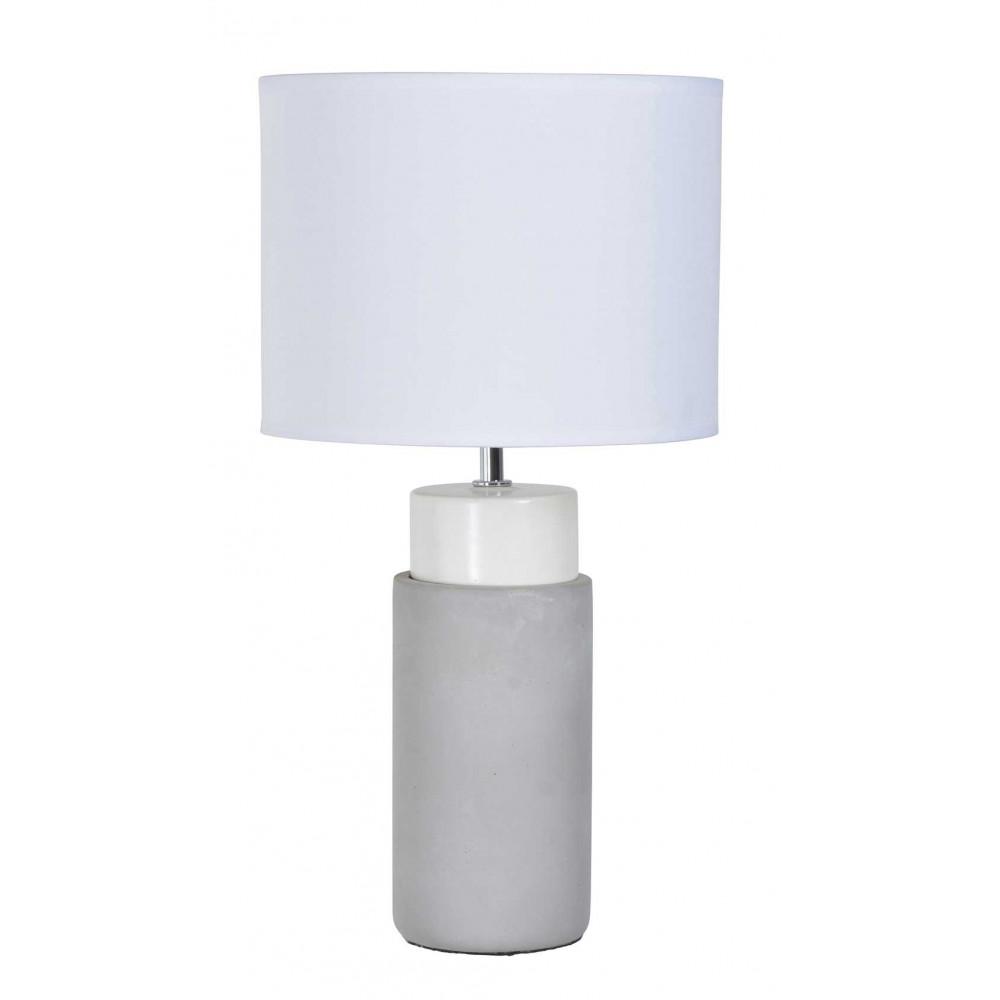 lampe de salon en b ton abat jour blanc. Black Bedroom Furniture Sets. Home Design Ideas
