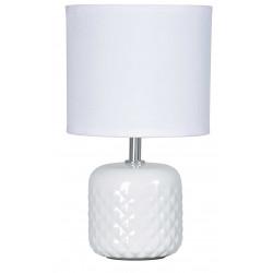 Lampe blanche pied céramique