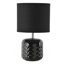 Lampe à poser noire céramique