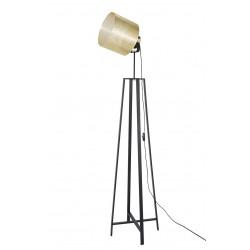 Lampadaire spot abat-jour métal