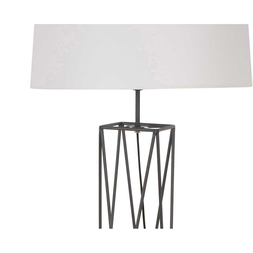 lampadaire style industriel abat jour blanc. Black Bedroom Furniture Sets. Home Design Ideas
