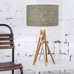 Lampe salon abat-jour vert