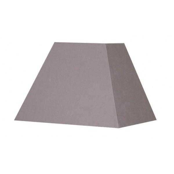 Abat-jour carré pyramide gris taupe