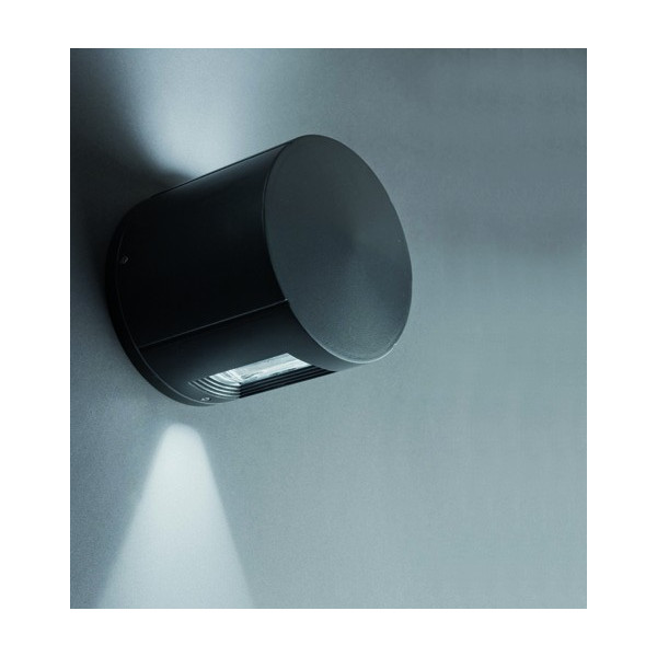 Applique cylindre gris fonc ext rieur design luminaire faro for Applique exterieur faro