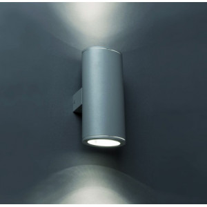 Applique extérieur cylindre gris foncé Faro