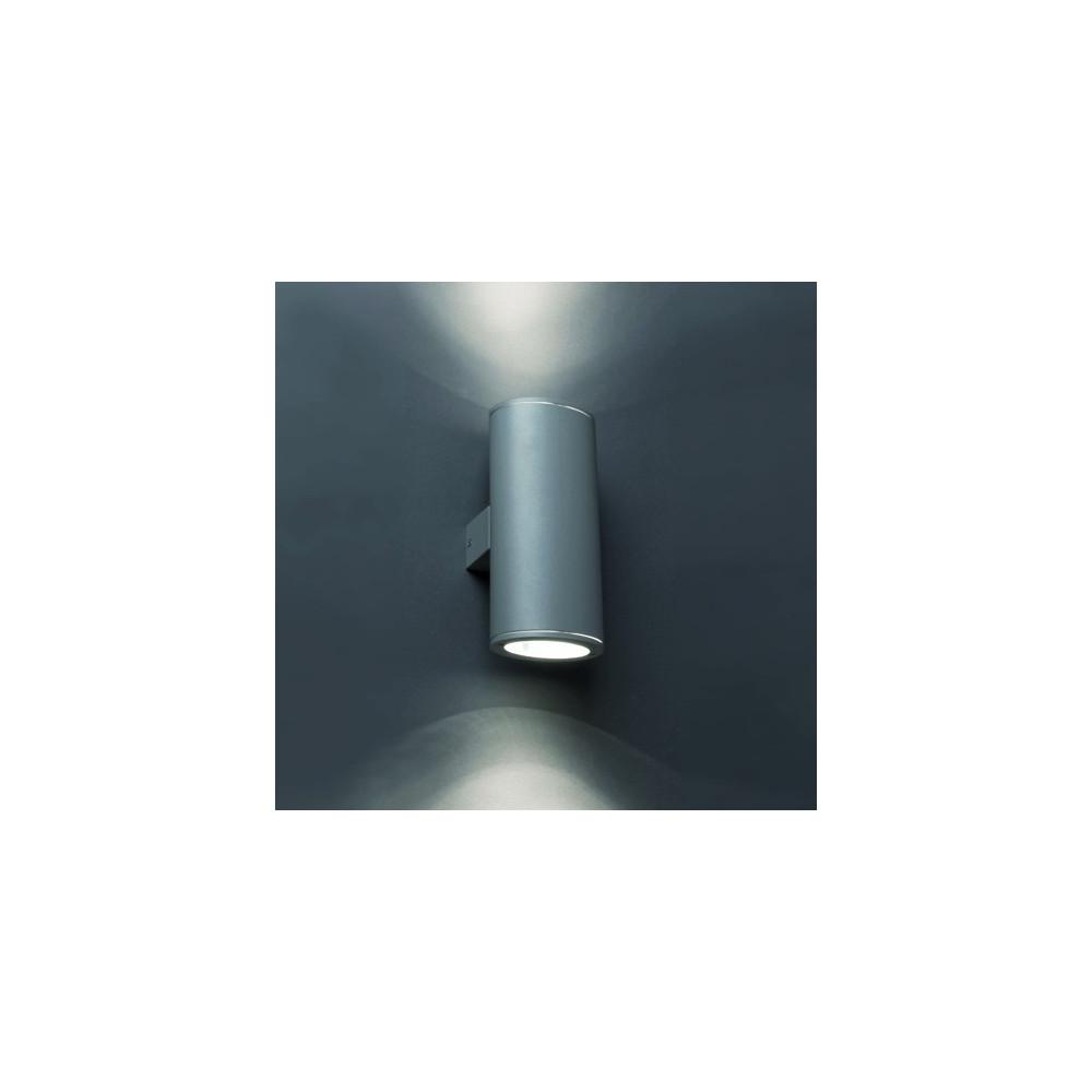 Applique ext rieur tube gris fonc faro luminaire jardin for Applique exterieur jardin