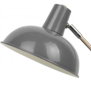 Lampe grise métal