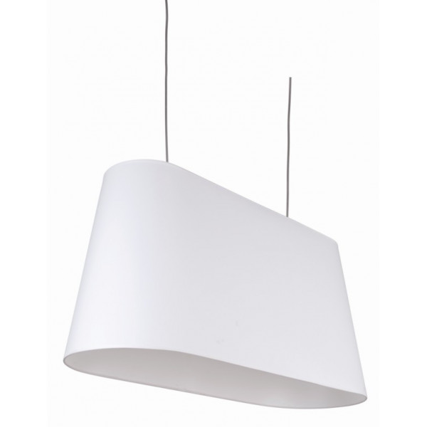 Grande suspension abat-jour blanc