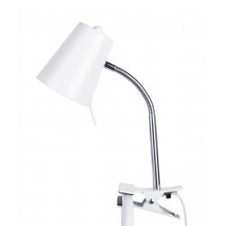 Lampe pince métal blanc