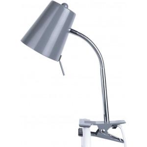 Lampe clip grise