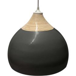Suspension noire bambou