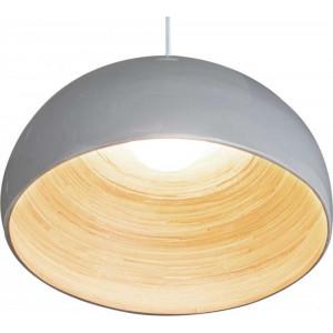 lampe salon bambou blanc