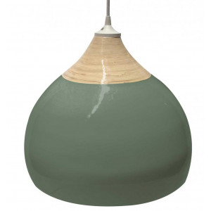 lampe salon verte bambou