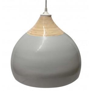 Suspension grise en bambou