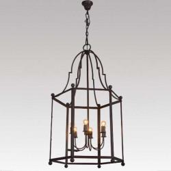 grande lanterne cage fer forgé