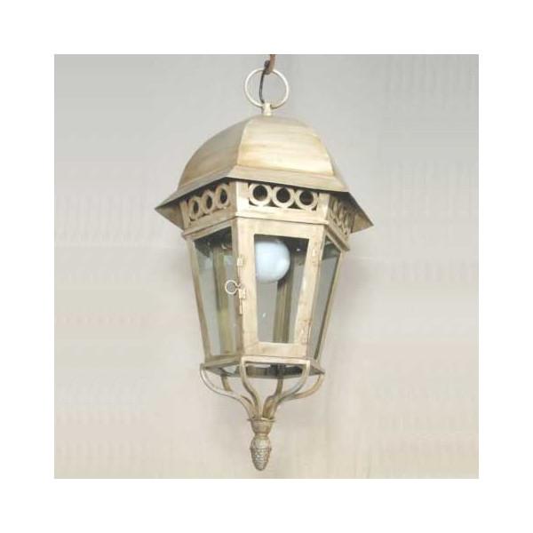 lanterne en fer forg vitr e accrocher. Black Bedroom Furniture Sets. Home Design Ideas
