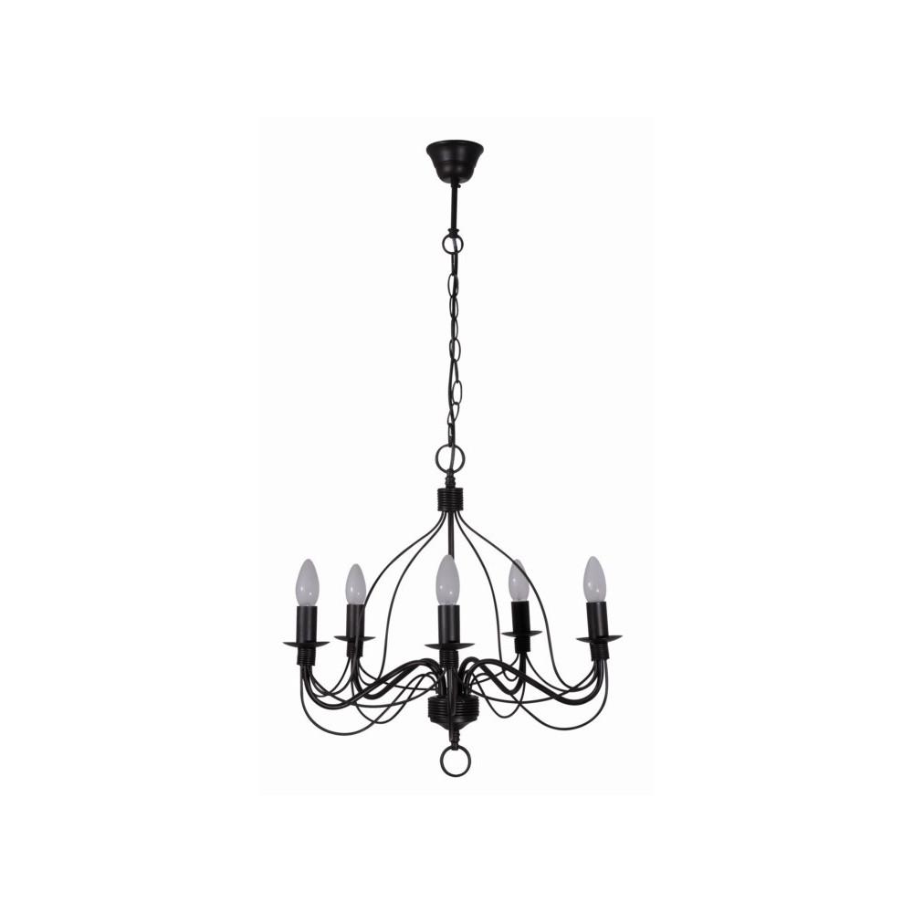 lustre brun en m tal luminaire suspendre sur lampe avenue. Black Bedroom Furniture Sets. Home Design Ideas