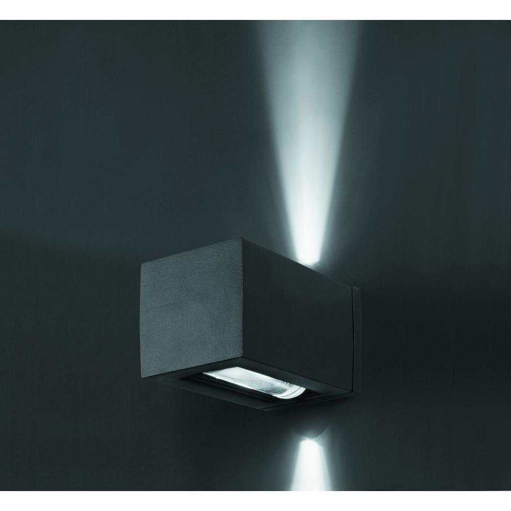 Applique ext rieur cube gris fonc luminaire design faro for Applique exterieur faro