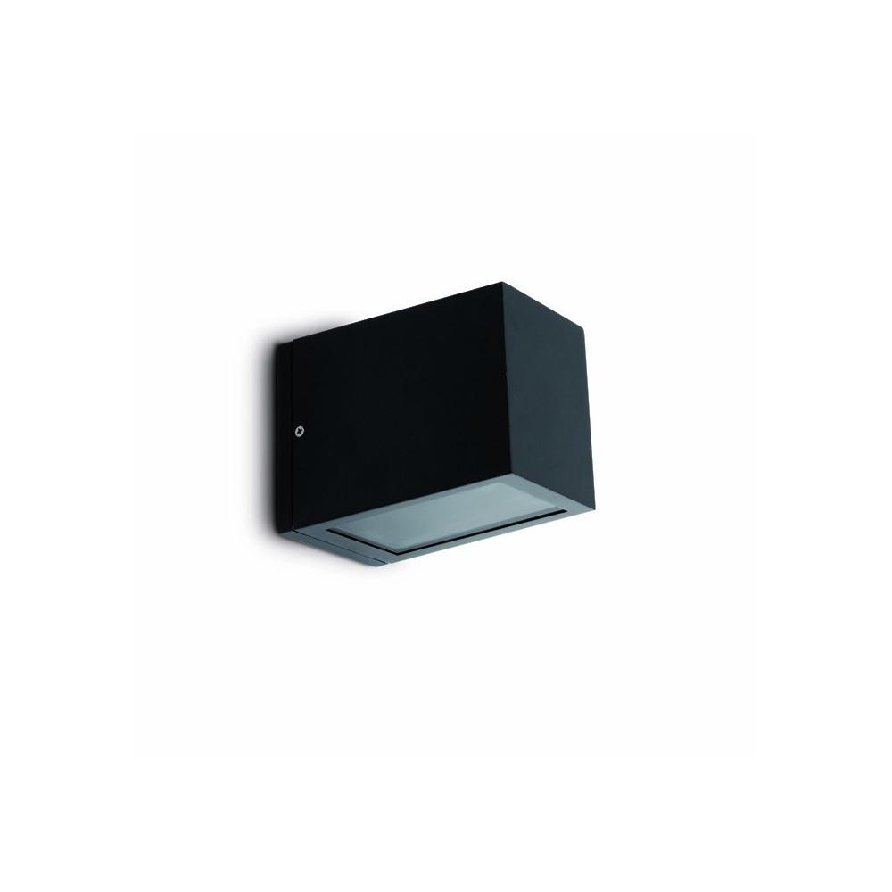Applique exterieur cube noire luminaire faro for Luminaire exterieur applique