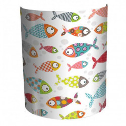 Applique poissons multicolores
