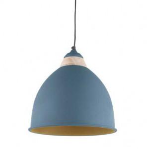 Suspension gris bleu métal et bois