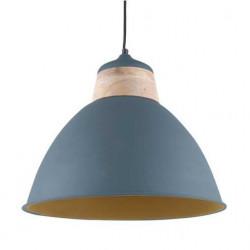 Suspension nordique gris bleu et bois