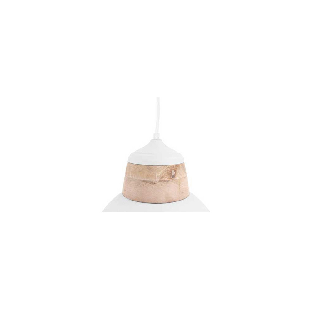 Suspension blanche int rieur dor en m tal et bois for Suspension bois et blanc