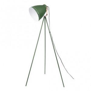 Lampadaire trépied métal vert