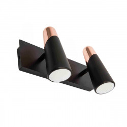 Applique double spot LED design noire et cuivre