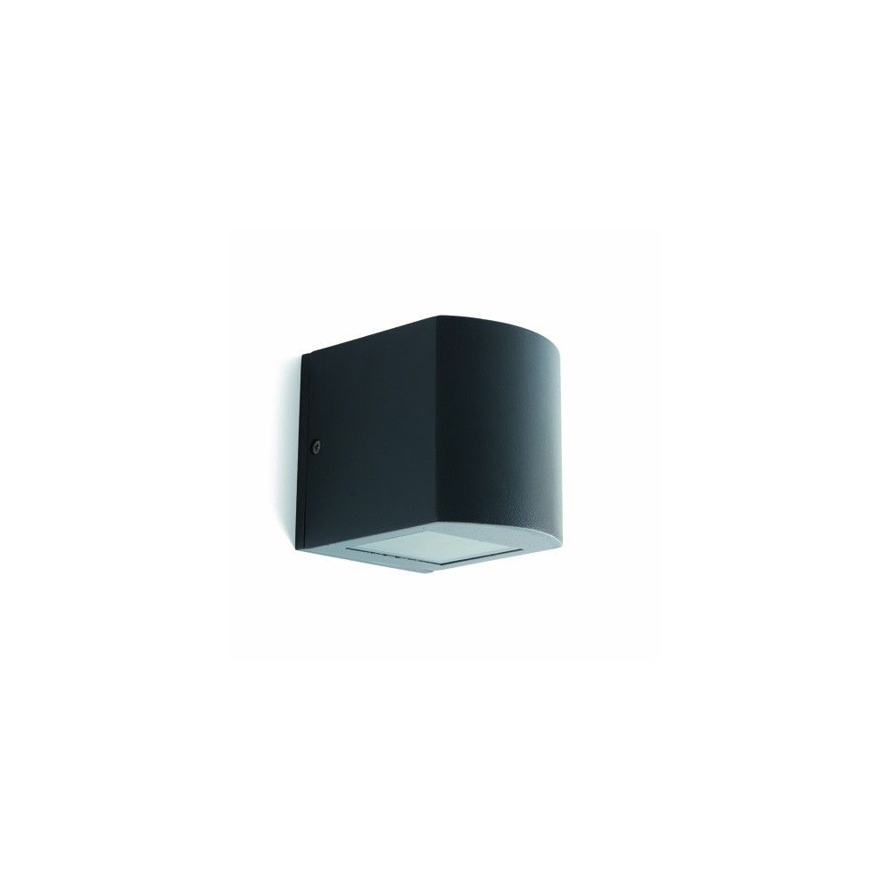 Applique ext rieur arrondie grise double diffuseur faro for Lampe applique exterieur