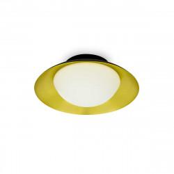 Plafonnier design noir et or