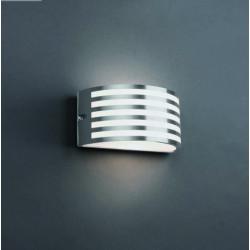 Applique extérieur nickel mat ou noir demi cylindre Faro