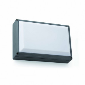 Applique extérieur carré grise ou grise foncée Faro