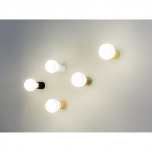 lampe applique blanche mate